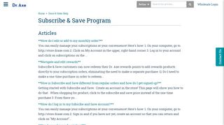 Subscribe & Save Program | Dr. Axe Support Center