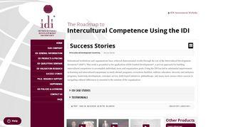 Success Stories   Intercultural Development Inventory   IDI Login
