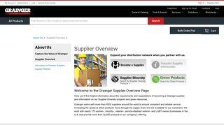 Supplier Overview - Grainger Industrial Supply