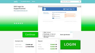 supportcentral.ge.com - SSO login for SupportCentral ... - Sur.ly
