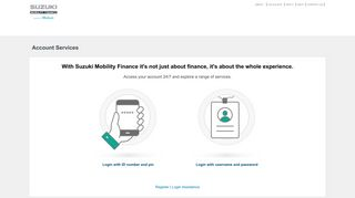 Suzuki Mobility Finance - Account Services - WesBank