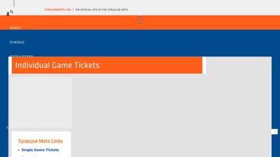 Syracuse Mets Single Game Tickets  Mets