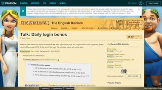 Talk:Daily login bonus | Ikariam | FANDOM powered by Wikia