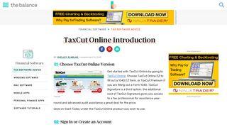 TaxCut Online Setup - The Balance