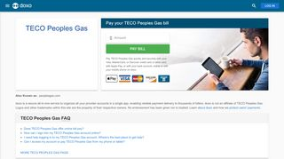 Teco Peoples Gas: Login, Bill Pay, Customer Service and Care Sign-In