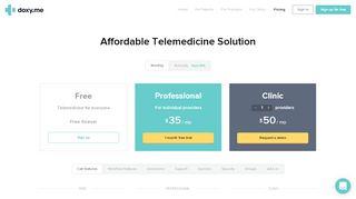 Telehealth Solution - FREE & HITECH Compliant | Doxy.me