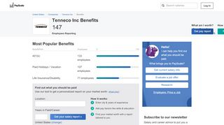 Tenneco Inc Benefits & Perks  PayScale