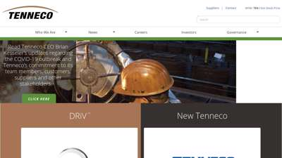 Tenneco - Pioneering global ideas for cleaner air and ...