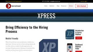 Tenstreet Xpress - Accelerate Hiring, Manage Drivers Efficiently