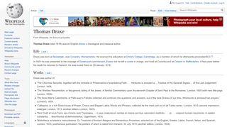 Thomas Draxe - Wikipedia