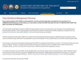 Total Workforce Management Services - Department of the Navy