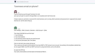 Townnews email on iphone?