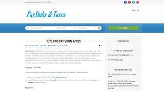 Toys R US Pay Stubs & W2s | Paystubs & Taxes