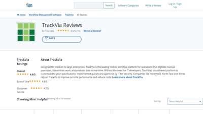 TrackVia Reviews 2020 - Capterra