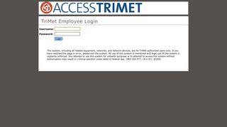 TriNET Employee Login - TriMet
