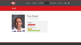 Troy Slater - Cedar Falls Community School District
