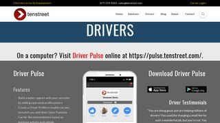 Truck Drivers - Submit Apps In Minutes with Tenstreet's Driver ...