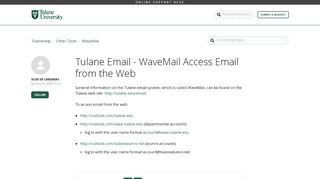 Tulane Email - WaveMail Access Email from the Web ...