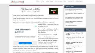 TWD Rewards Is A Mess | Consumer Press