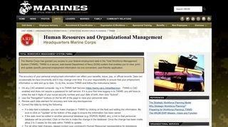 TWMS - Headquarters Marine Corps