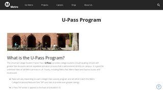 U-Pass Program - LA Metro Home