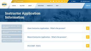 UCA Instructor Application - Universal Cheerleaders Association