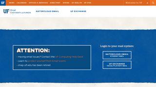 UF WebMail - University of Florida