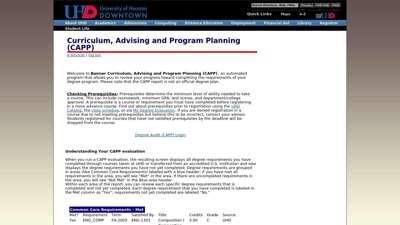 UHD e-services - University of Houston-Downtown