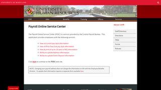 University Human Resources - UMD HR - University of Maryland