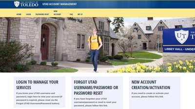 University of Toledo - UTAD Account Management