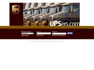 UPS Enterprise Portal Log In