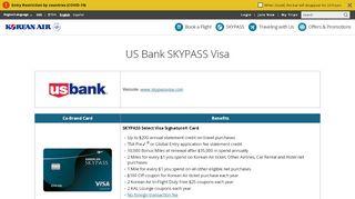 US Bank SKYPASS VISA - Korean Air