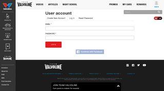 User account   Team Valvoline