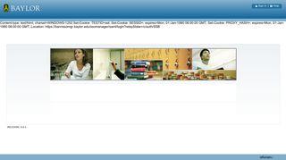 User Login - Baylor University