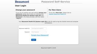 User Login - Beaumont Health