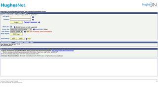 (User login) HughesNet® Installation Portal