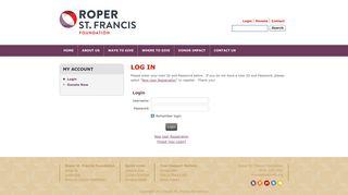 User Login - Roper St. Francis Foundation