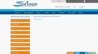 User Login - Springs Charter Schools