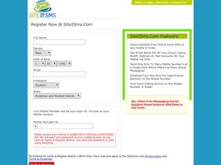 User Registration - Site2Sms.Com Send Free Unlimited Sms ...