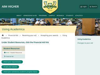 Using Academica - Financial Aid - Wayne State University