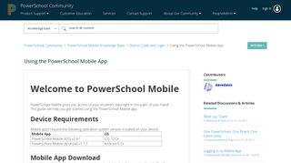 Using the PowerSchool Mobile App - PowerSchool Community