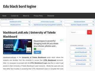 UTDL Blackboard Login  University of Toledo Blackboard Login