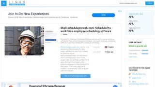 Visit Shell.scheduleproweb.com - SchedulePro - workforce ...