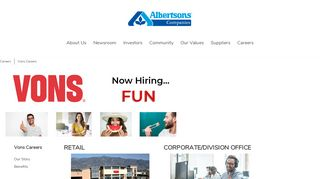 Vons Careers - Albertsons Companies