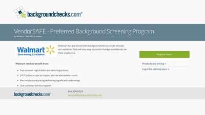 Walmart background check