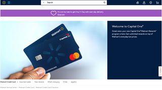 Walmart Credit Card Transition - Walmart.com