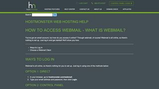 Webmail Access - HostMonster