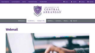 Webmail — University of Central Arkansas