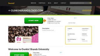 Welcome to Dunkinbrands.csod.com - Welcome to Dunkin ...