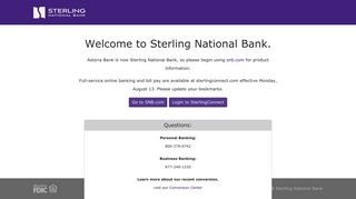 Welcome to Sterling National Bank